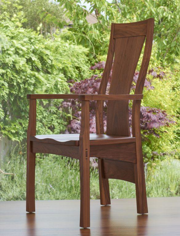 Dunleavy Bespoke carver chair in walnut