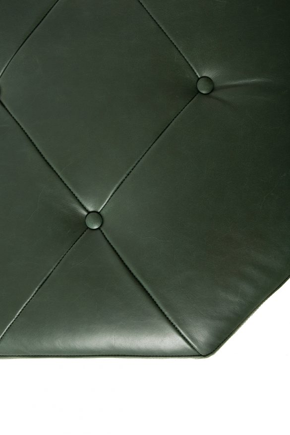 Leather upholstery ottoman - Dunleavy Bespoke
